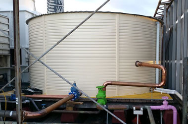 Water tank at Brisbane hotel