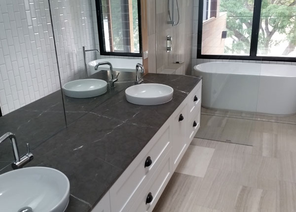 New bathroom installed by Liquid Plumbing Solutions